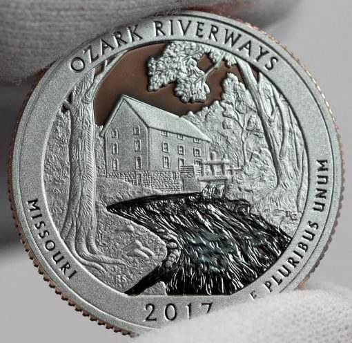 2017-S Proof Ozark National Scenic Riverways Quarter, Reverse-b