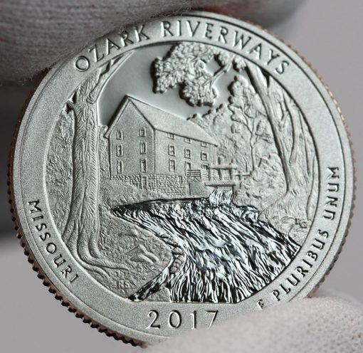 2017-S Proof Ozark National Scenic Riverways Quarter, Reverse-c