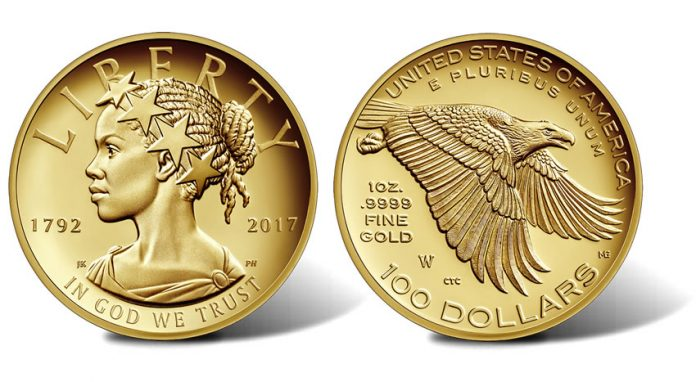 225th Anniversary 2017 American Liberty Gold Coin, Obverse and Reverse