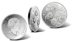 Canadian 2017 $20 Coin Uses Pearl Pieces to Embellish Flowers
