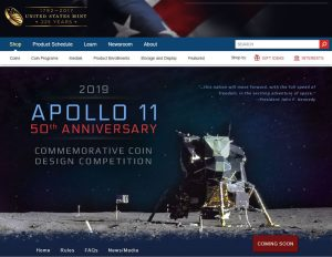 Mint Site - Apollo 11 Coin Design Competition