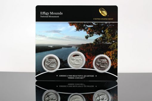 Photo 2017 Effigy Mounds National Monument Quarters Three-Coin Set
