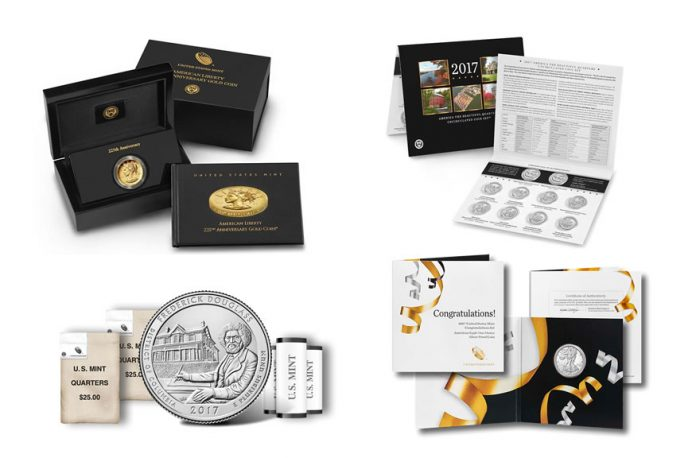US Mint Numismatic Products for April 2017