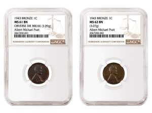 1943 Bronze Lincoln Cents Authenticated by NGC