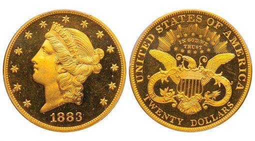 $20 1883 PCGS PR65 DCAM CAC