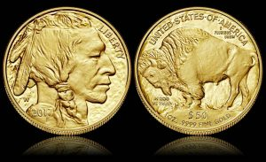 2017 $50 Proof American Gold Buffalo