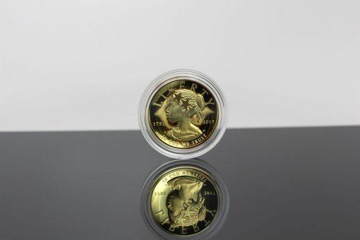 2017 American Liberty Gold Coin - Obverse, Encapsulated, BlackBg