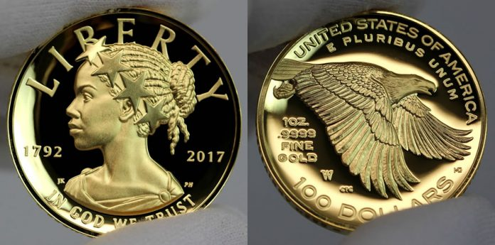 2017 American Liberty Gold Coin - Obverse and Reverse
