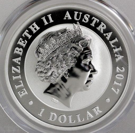 2017 Australian Silver Swan 1oz Bullion Coin - Obverse