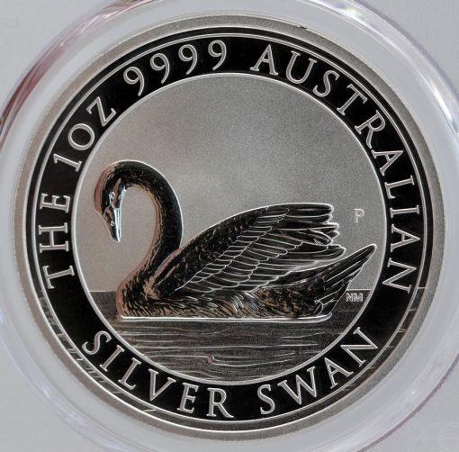 2017 Australian Silver Swan 1oz Bullion Coin - Reverse