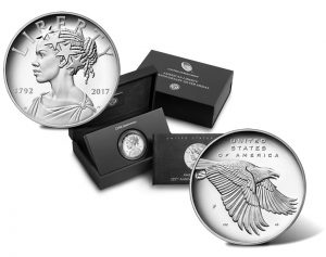 2017-P Proof American Liberty Silver Medals, Case and Booklet