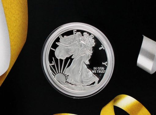 2017-S Proof American Silver Eagle Encapsulated in 2017 Congratulations Set