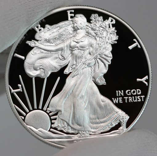 2017-S Proof American Silver Eagle - Obverse, a