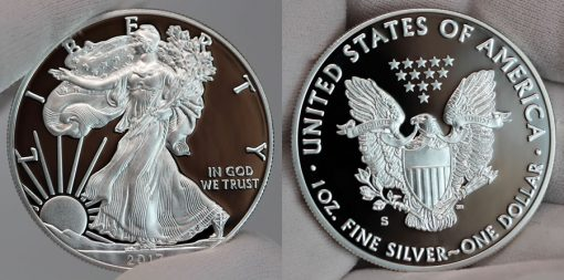 2017-S Proof American Silver Eagle - Obverse and Reverse