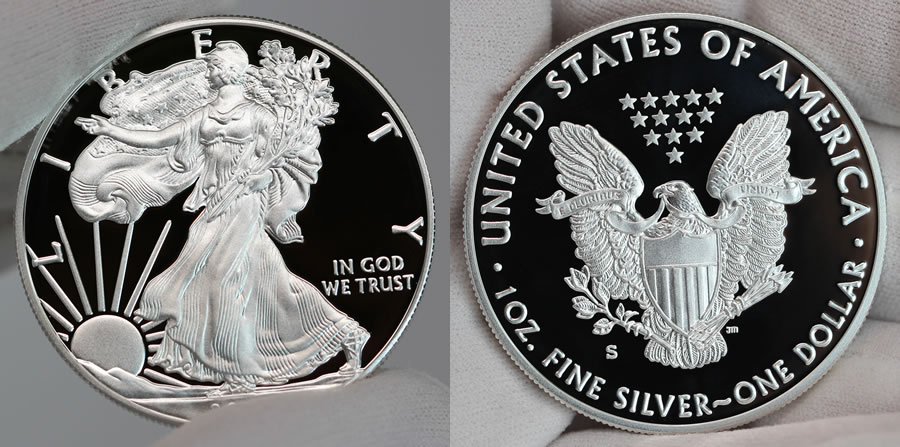 2017 S Proof American Silver Eagle Obverse And Reverse A
