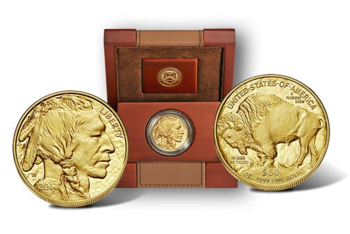 2017-W $50 Proof American Buffalo Gold Coin and Case