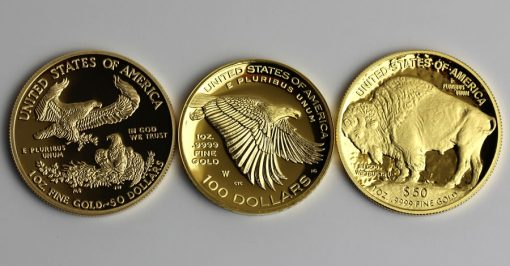 American Gold Eagle, American Liberty and American Buffalo Proof Gold Coins