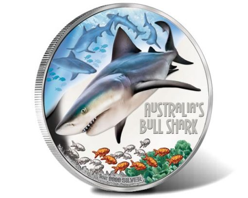 Deadly and Dangerous - Bull Shark 2017 1oz Silver Proof Coin