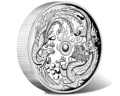 Dragon and Phoenix 2017 1oz High Relief Silver Proof Coin