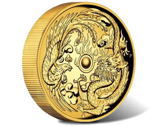 Dragon and Phoenix 2017 2oz High Relief Gold Proof Coin