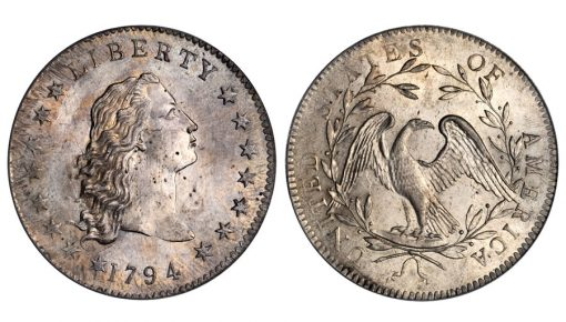 Lord St. Oswald-Norweb 1794 Flowing Hair silver dollar
