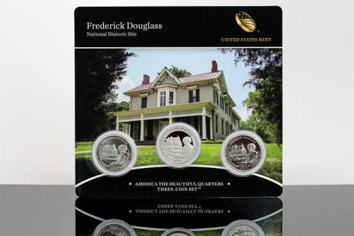 Photo 2017 Frederick Douglass National Historic Site Quarters Three-Coin Set