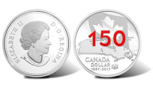 Canada 1867-2017 Coin Features 3D-Like Map and Enameled '150'