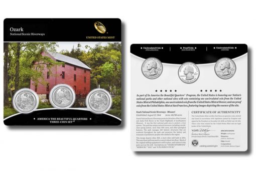 2017 Ozark National Scenic Riverways Quarters Three-Coin Set