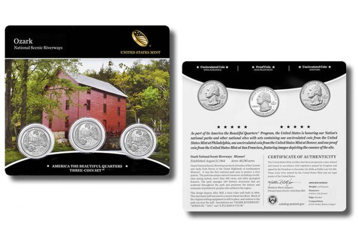 2017 Ozark National Scenic Riverways Quarters Three-Coin Set