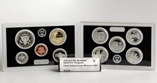 2017 Silver Proof Set Lenses - Ozark Riverways Quarters