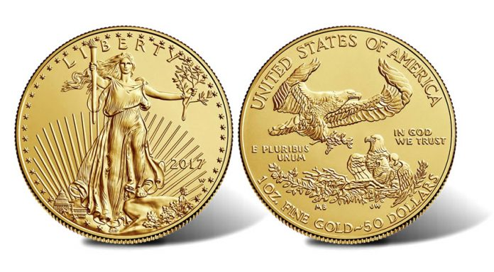 2017-W $50 Uncirculated American Gold Eagle - Obverse and Reverse