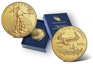US Mint Sales: 217 Uncirculated Gold Eagle Debuts
