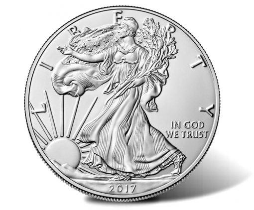 2017-W Uncirculated American Silver Eagle - obverse