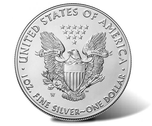 2017-W Uncirculated American Silver Eagle - reverse