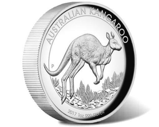 Australian Kangaroo 2017 1oz Silver Proof High Relief Coin