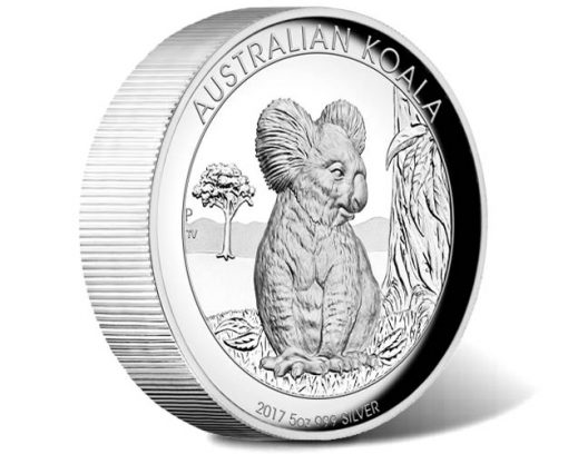 Australian Koala 2017 5oz Silver Proof High Relief Coin