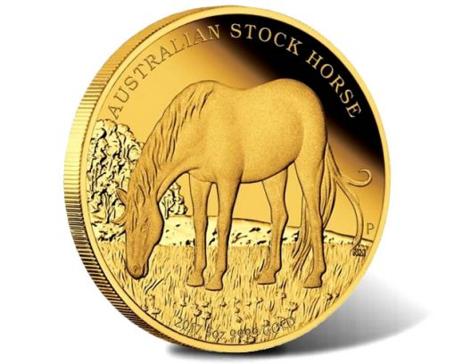 Australian Stock Horse 2017 5oz Gold Proof Coin