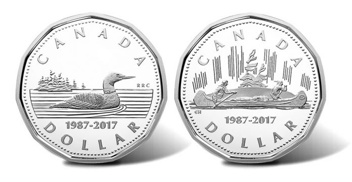 Canadian 1987-2017 Loonie Silver $1 Coins
