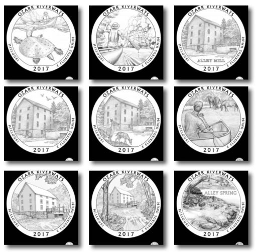 Design Candidates 2017 Ozark National Scenic Riverways Quarter