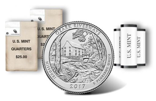 Ozark Riverways quarters, rolls and bags