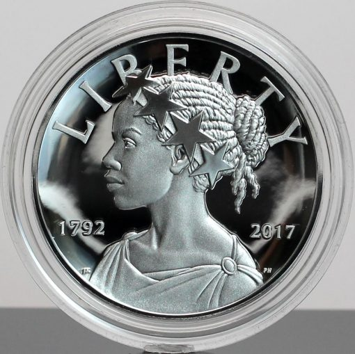 Photo 2017-P Proof American Liberty Silver Medal - Obverse, Encapsulated