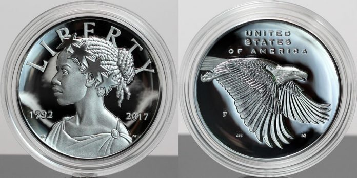Photo 2017-P Proof American Liberty Silver Medal - Obverse and Reverse, Encapsulated