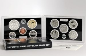 Photo of 2017 Silver Proof Set - Lenses of Coins and Packaging Box