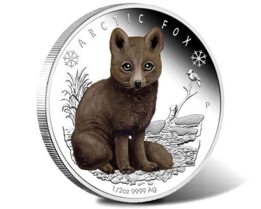 Polar Babies - Arctic Fox 2017 1-2oz Silver Proof Coin