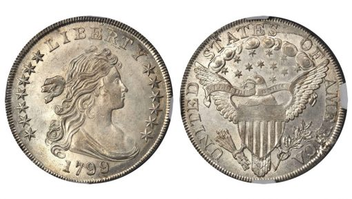 1799/8 Draped Bust Silver Dollar