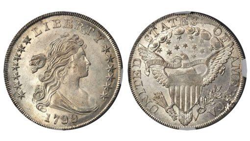 1799/8 Draped Bust Silver Dollar