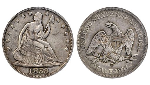 1853-O Liberty Seated Half Dollar