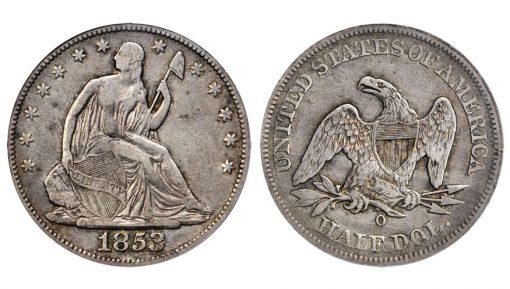 1853-O Liberty Seated Half Dollar