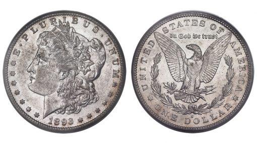 1893-S $1 AU55 PCGS