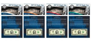 2017 $2 Single Note Collection Includes Four Banknotes